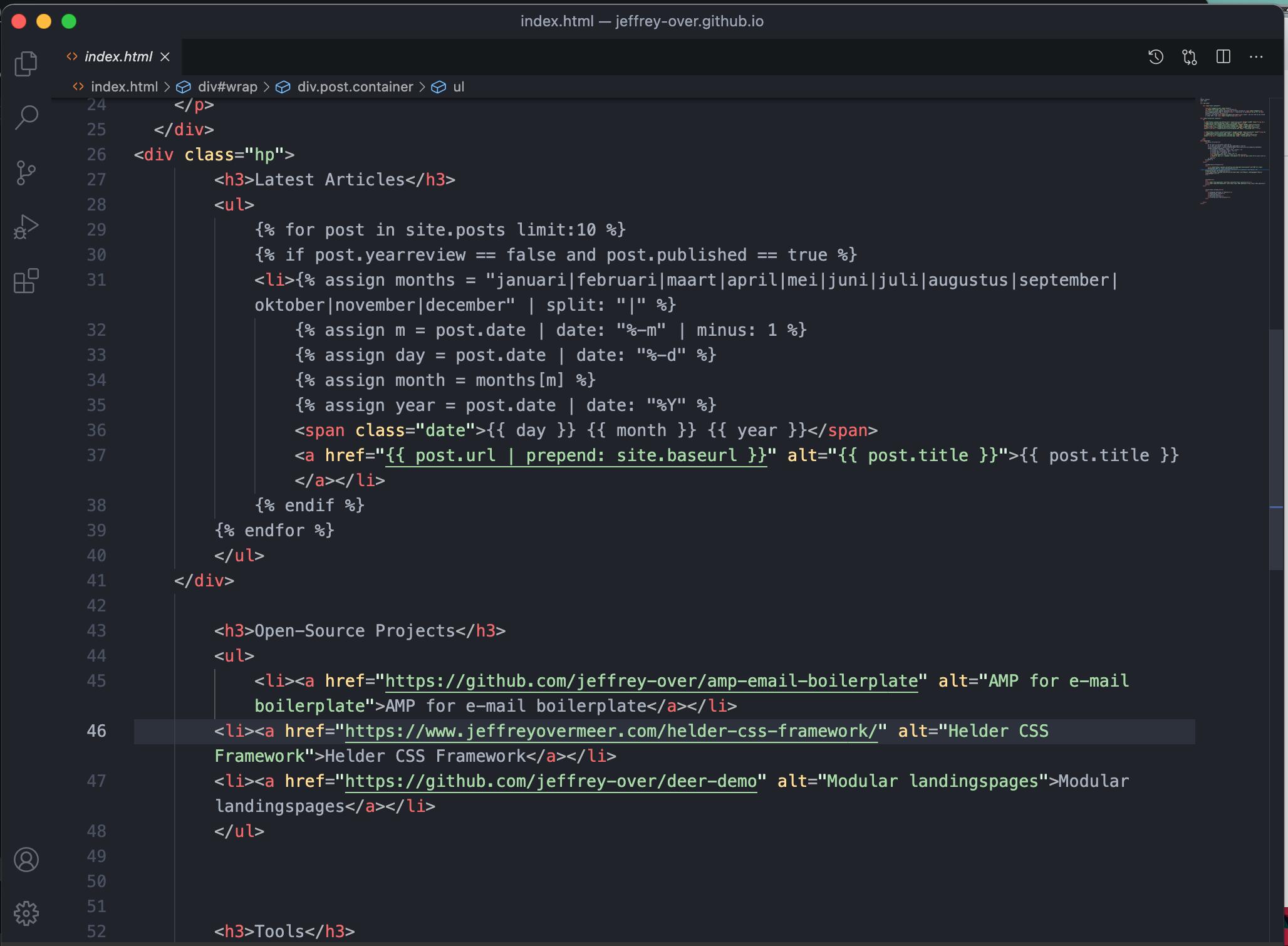 Screenshot HTML